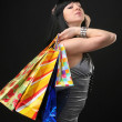 Beautiful girl in dress with shopping bags — ストック写真 #3467882