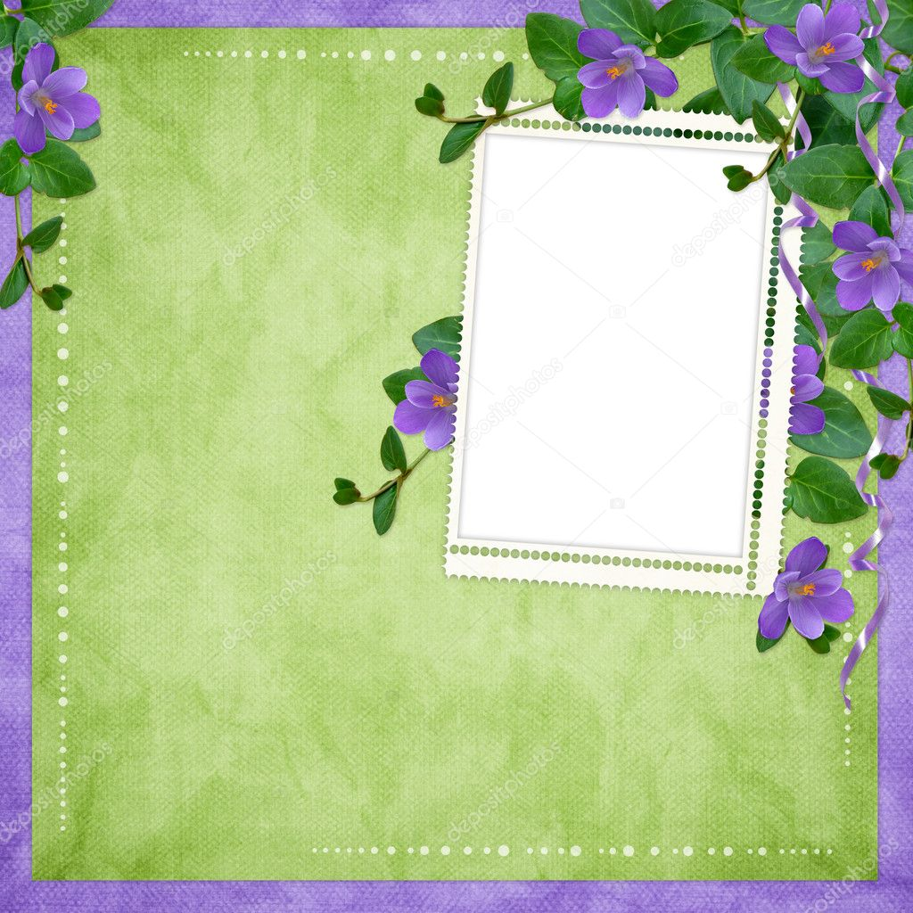 Card for the holiday  with flowers on the abstract background — Stock Photo #2731882