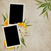 花と休日のためのヴィンテージのカード — ストック写真