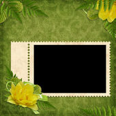 Card for the holiday with flowers — Stock Photo