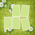 karta pro dovolenou s květinami — Stock fotografie