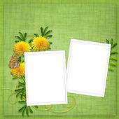 Card for holiday with flower — 图库照片