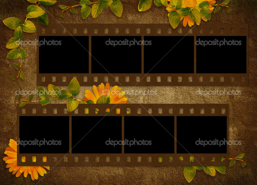 Vintage card for the holiday with flower on the abstract background — Stock Photo #2895532