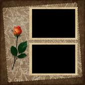 Vintage tarjeta para el día de fiesta con la flor — Foto de Stock