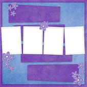 Férias carta de flores e pérolas — Fotografia Stock