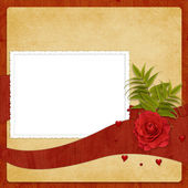 Card for the holiday with flower — Stock Photo