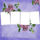 Cartão para o feriado com flores — Fotografia Stock
