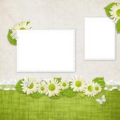 Cartão para o feriado com flores — Foto Stock