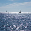 Stock Photo: Sailboat at Baltic sea