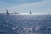Sailboat at Baltic sea — Stockfoto