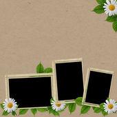 çiçek ile tatil için vintage kartı — Stok fotoğraf