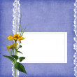 Card for the holiday  with flowers - Foto Stock