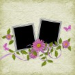 Card for the holiday  with flowers - Foto de Stock