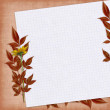 Autumn card with flowers - Stock Photo