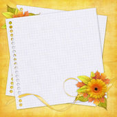 Autumn card with flowers — Stok fotoğraf