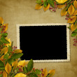 Card for the holiday  with autumn leaves — Stok fotoğraf