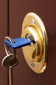 Säkra lås — Stockfoto