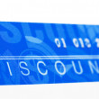 Stock Photo: Discount card