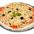 Uncooked vegetarian pizza — Stock Photo