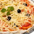 Uncooked vegetarian pizza — Stock Photo #3809351