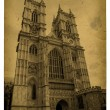 London. Vintage Westminster Abbey - Stock Photo