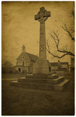 Britain. Old photo. Celtic cross. — Stock Photo