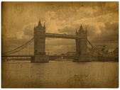 London. Vintage tower bridge photography — Stock Photo
