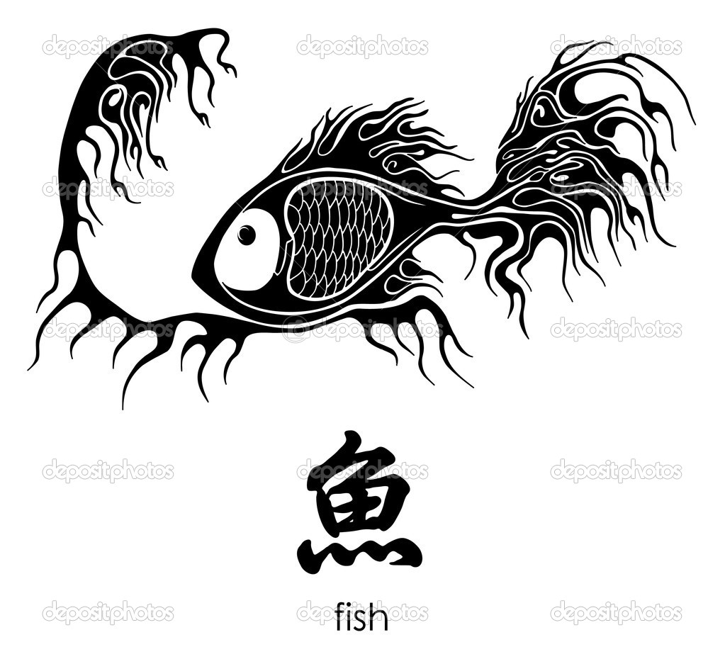 Китайский знак зодиака рыбы тату