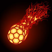 Flaming soccer — Stock Vector