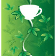 Tea_milk_motif — Stock Vector