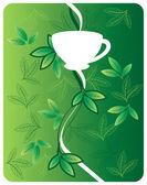 Tea_milk_motif — Stock Vector