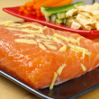 Marinated Norwegian Salmon — Stock Photo