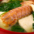 Langoustine soup - Stock Photo