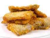 Fresh fried Conger fish — Stock Photo