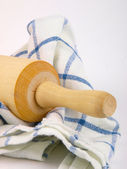 Rolling pin. Close up on white background — Stock Photo