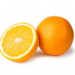Orange whole and halfe — Stock Photo