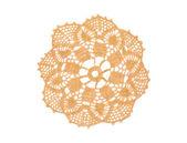 Crocheted beige doily — Stock Photo