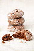 Chocolate crinkles — Stock Photo