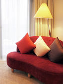 Red Sofa in Living Room — Stock Photo