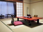 Japanese style hotel guest room — Stock Photo