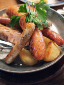 German style assorted sausages — Stock Photo