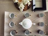 Tea set for visitors — Stock Photo
