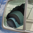Stock Photo: Car window smashed