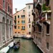 Venice Canal with Gondola — Stock Photo #3322522