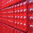 Red plastic wall — Stock Photo