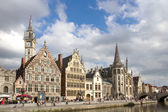 Ghent Graslei on the waterfront in Belgium — Stock Photo
