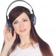 Young woman in headphones — Stock Photo #2762773