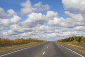 Road and cloud sky in day — Stock Photo