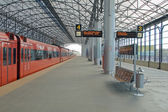 Train station Sheremetyevo, Moscom — Stock Photo
