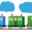 Funny train — Stock Vector